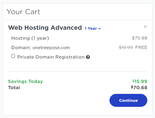 Yahoo Advanced Hosting Fee