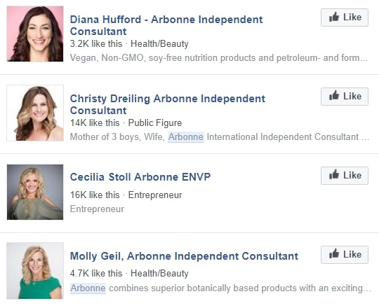 Arbonne Consultants on Facebook