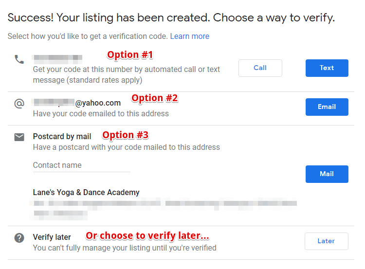 Three Methods to Verify on Google My Business