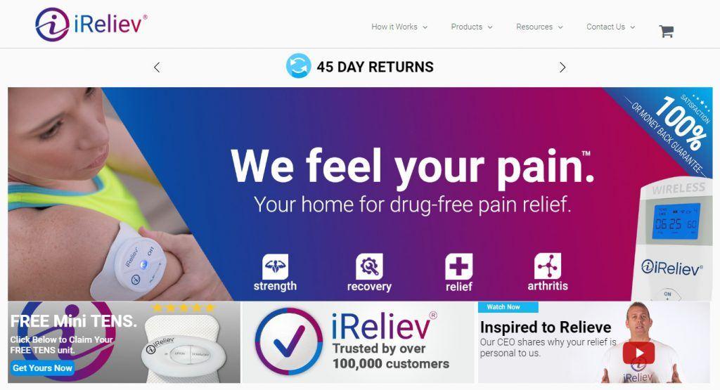 iReliev Homepage