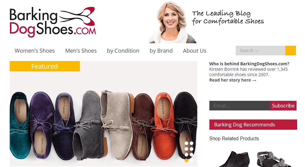 Barking Dog Shoe Homepage