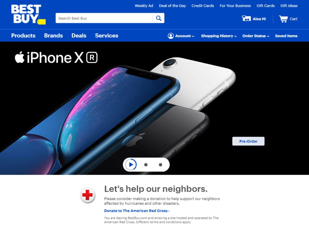 BestBuy Homepage