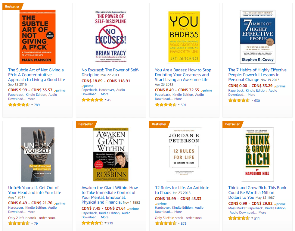 Motivational Books on Amazon