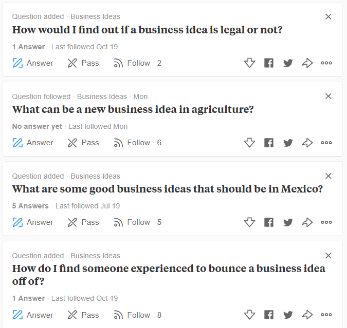 Some Questions on Quora