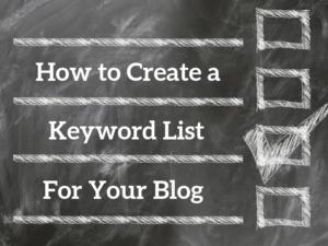 How to Create a Keyword List