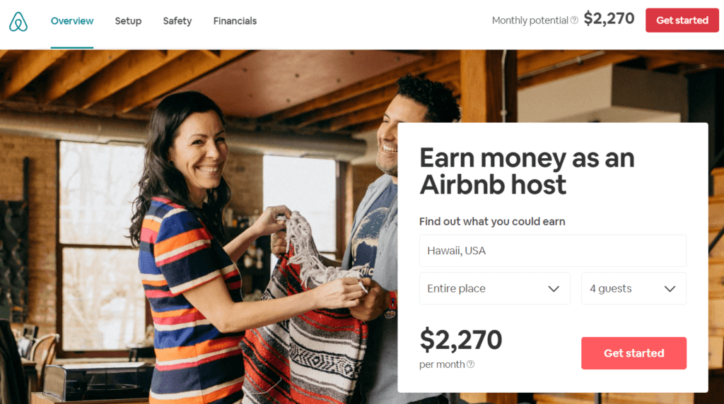 Potential Host Income From Airbnb