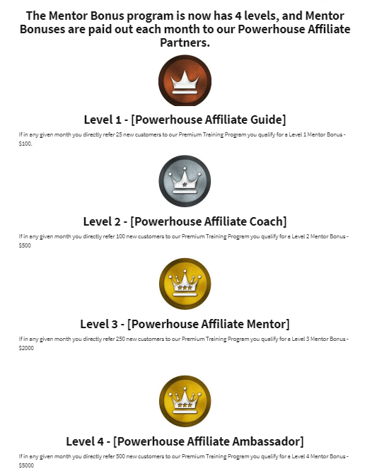 Mentor Bonuses by Powerhouse