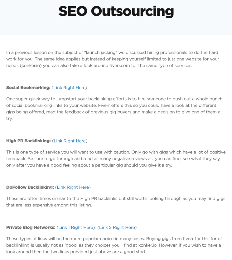 SEO Outsourcing Techniques by Powerhouse (Not Recommended)