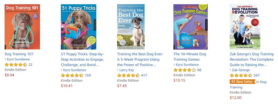 Dog Training Books on Amazon