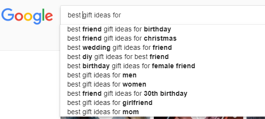 Google Suggest 3