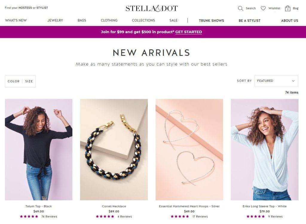 Stella and Dot eCommerce Site