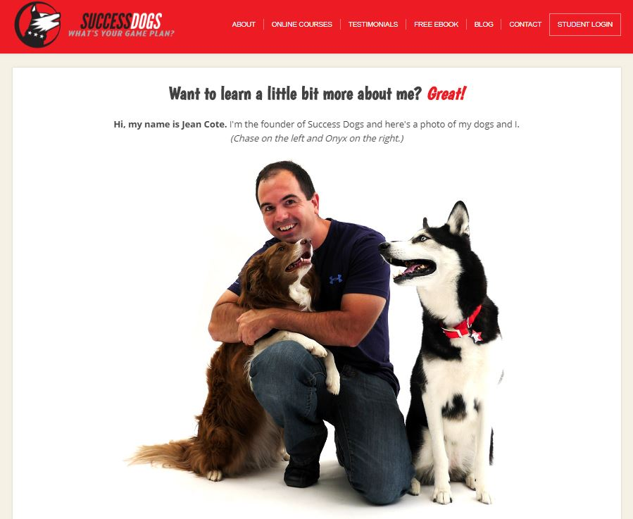 Success Dogs HomePage