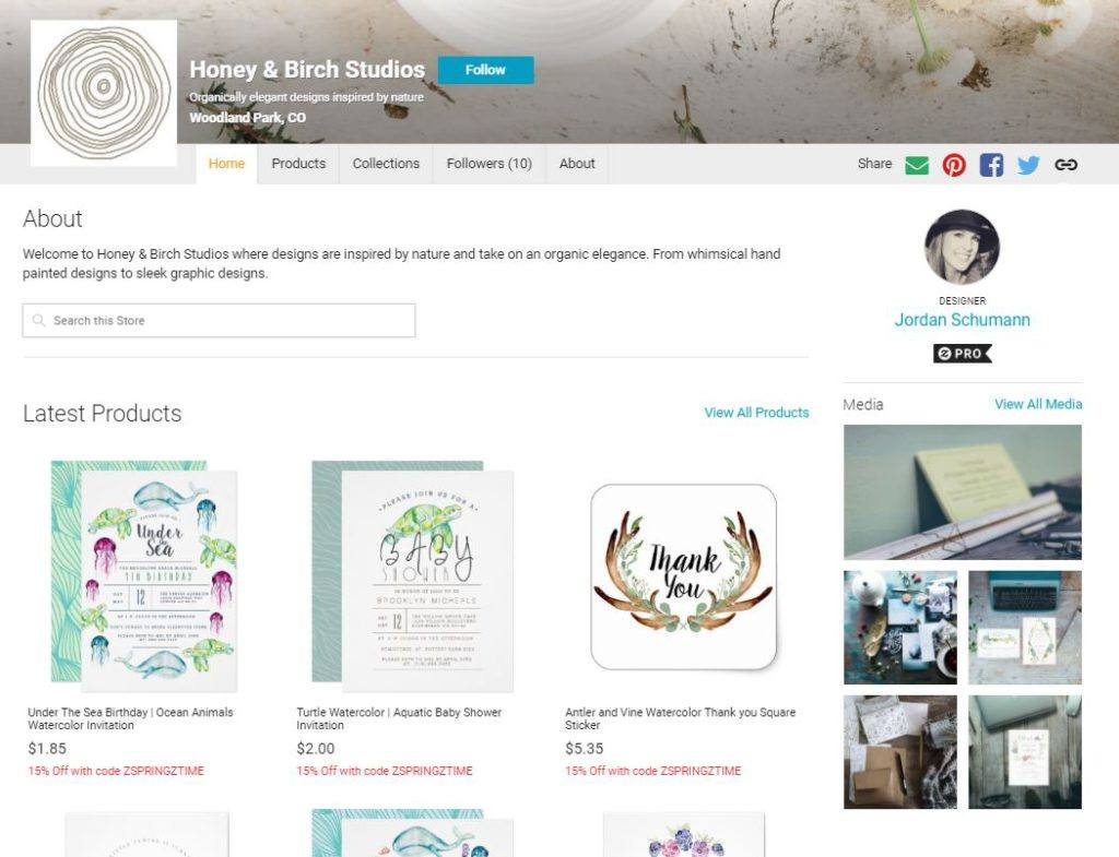 Designer Store on Zazzle