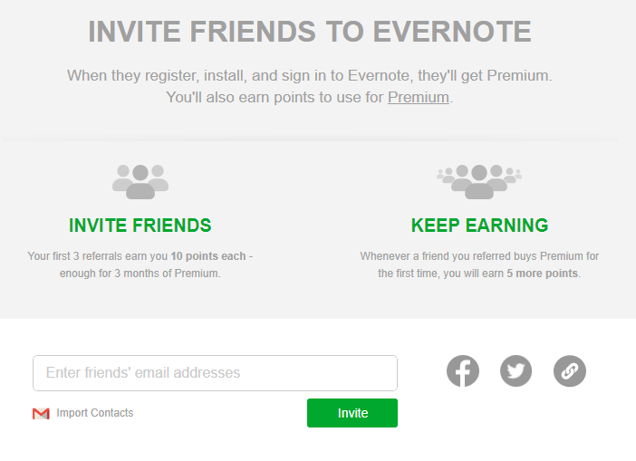 Evernote Invitation Link