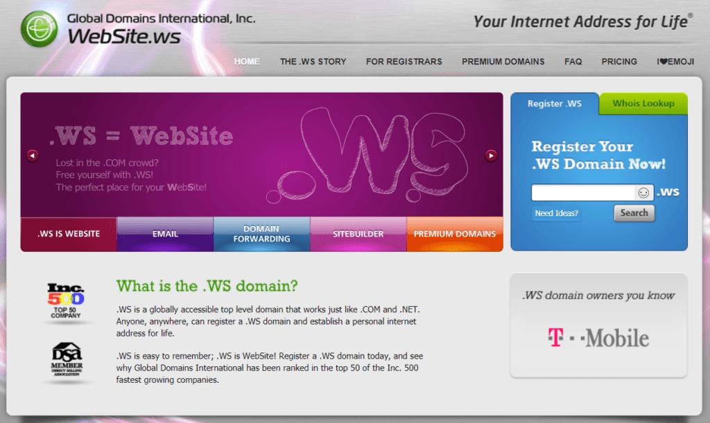 Website Dot Ws