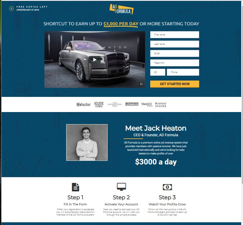 AD Formula Homepage