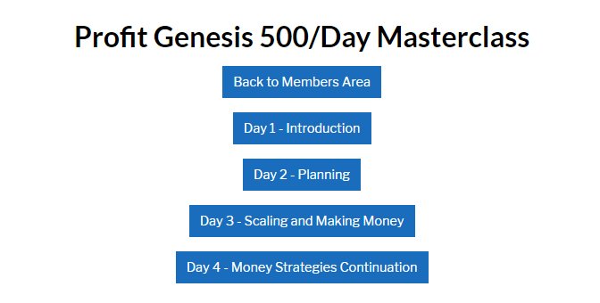 Profit Genesis Affiliate Marketing Training