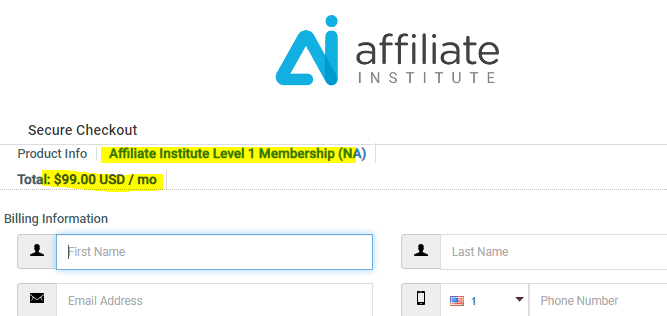 Affiliate Institute Level 1 Membership