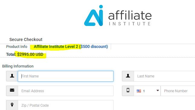 Affiliate Institute Level 2 Membership