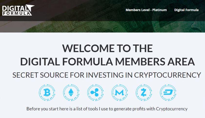 Digital Formula Sales Page