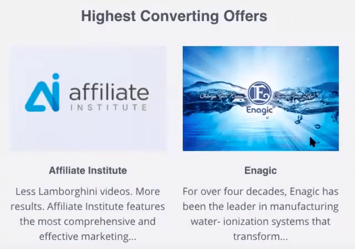 Enagic Offer Within Affiliate Institute