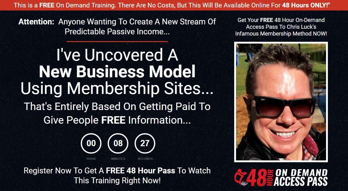 Membership Method Sales Page