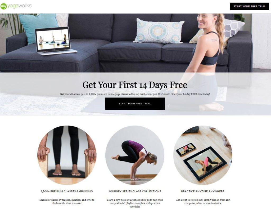 My Yoga Works Homepage