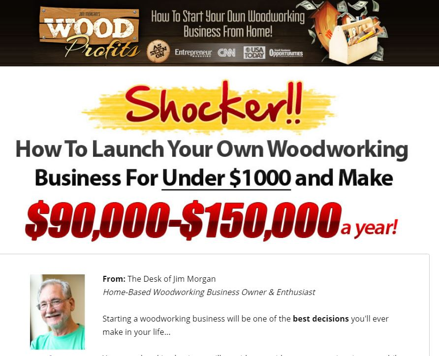 WoodProfits Sales Page