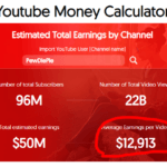 YouTube Earnings for PewDiePie