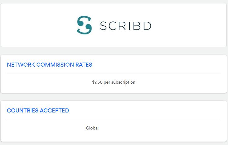 Scribd Affiliate Program on Sovrn Commerce