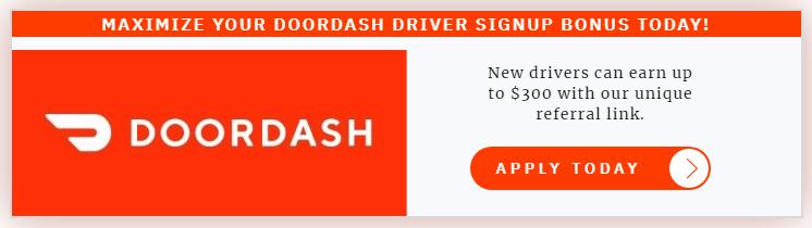 Example of a Doordash Sign Up Bonus
