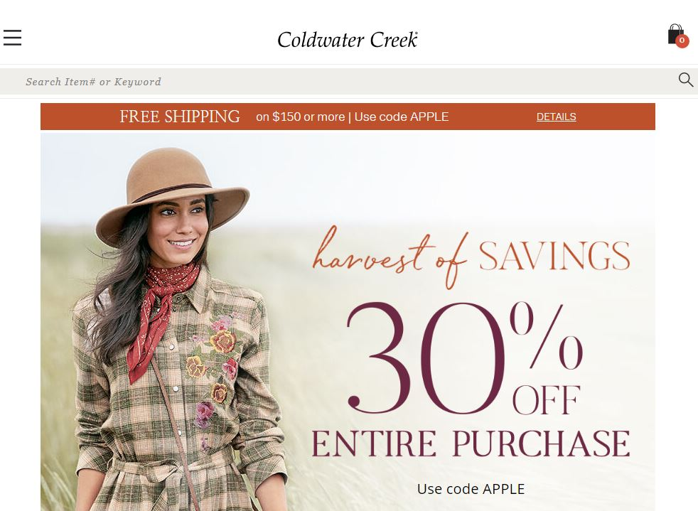 Coldwater Creek Online Store