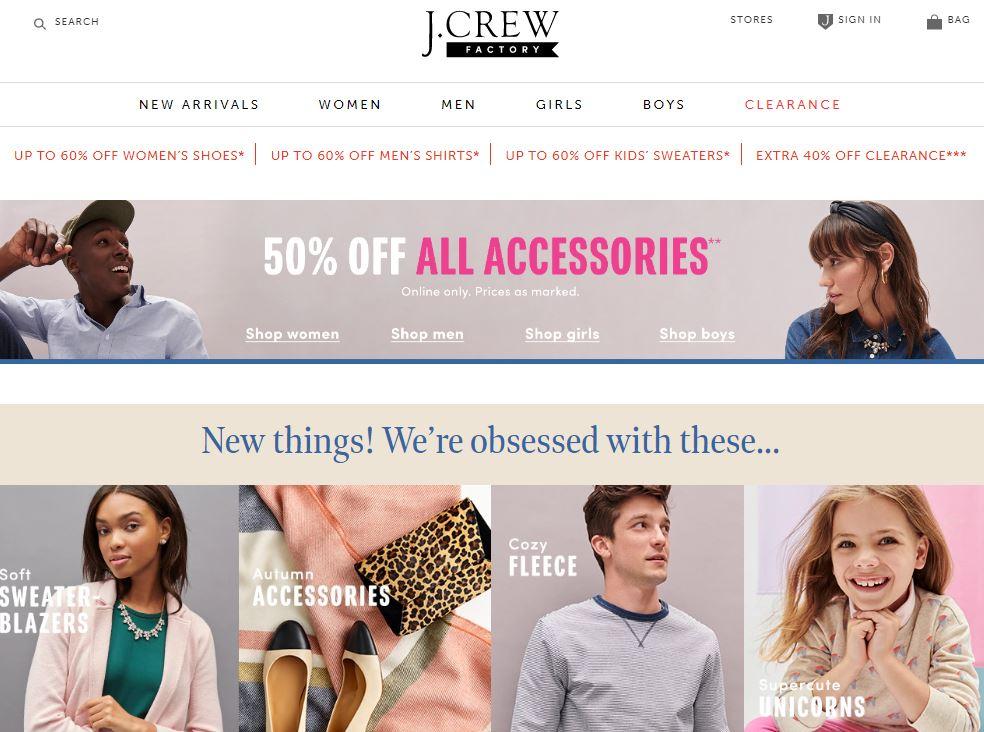 J Crew Factory Online Store