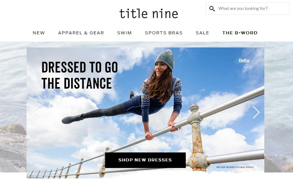 Title Nine Online Store