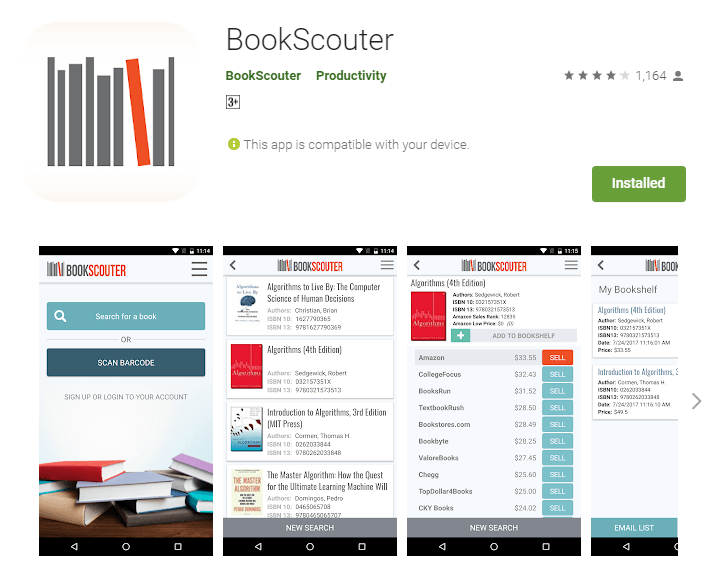 Bookscouter Android App