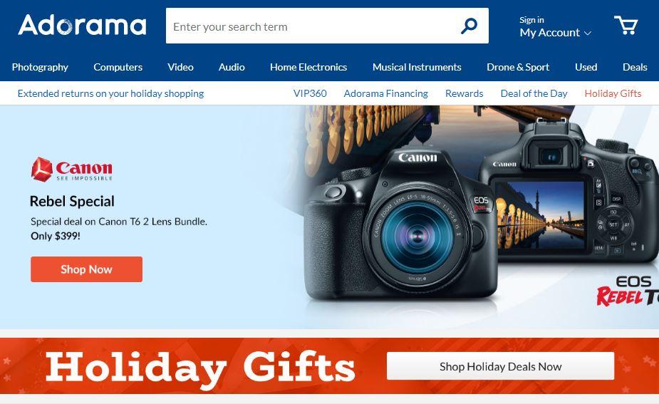 Adorama Homepage