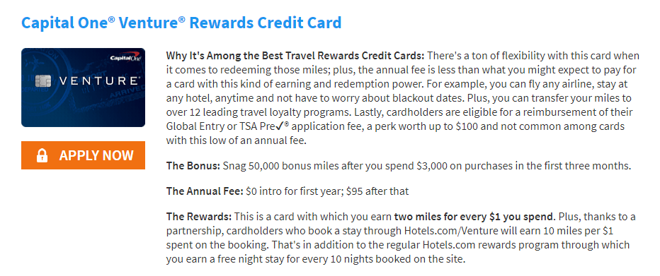 Capital One Rewards Credit Card