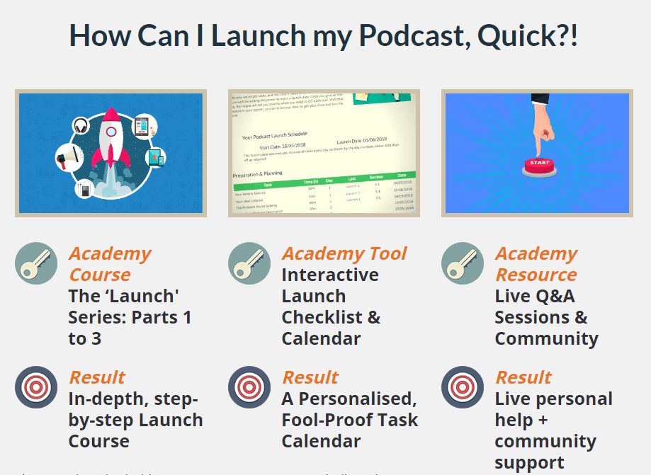 Podcast Host Academy Homepage