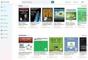 Affiliate Marketing Audiobooks and Books on Scribd