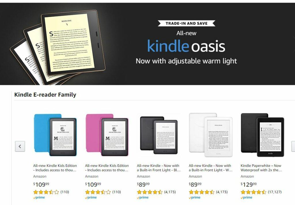 Kindle eReaders on Amazon