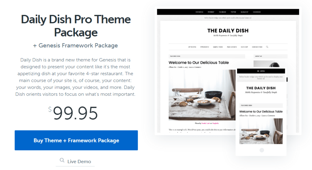 Daily Dish Pro Theme Package