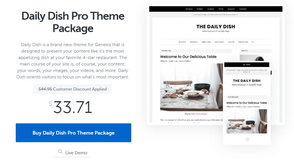 Daily Dish Pro Theme Without Genesis Framework