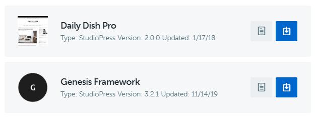 Download StudioPress Theme