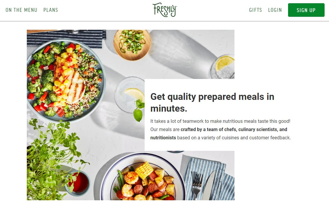 Freshly Homepage
