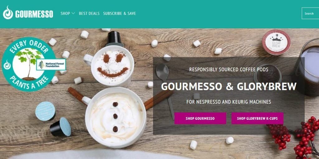 Gourmesso Homepage