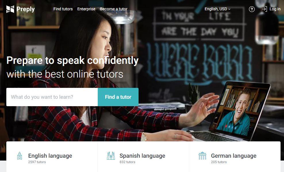 Preply Homepage