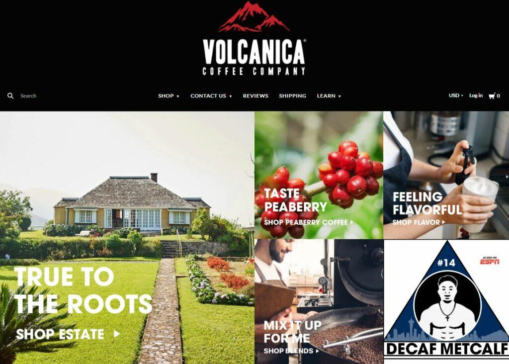 Volcanica Coffee Homepage