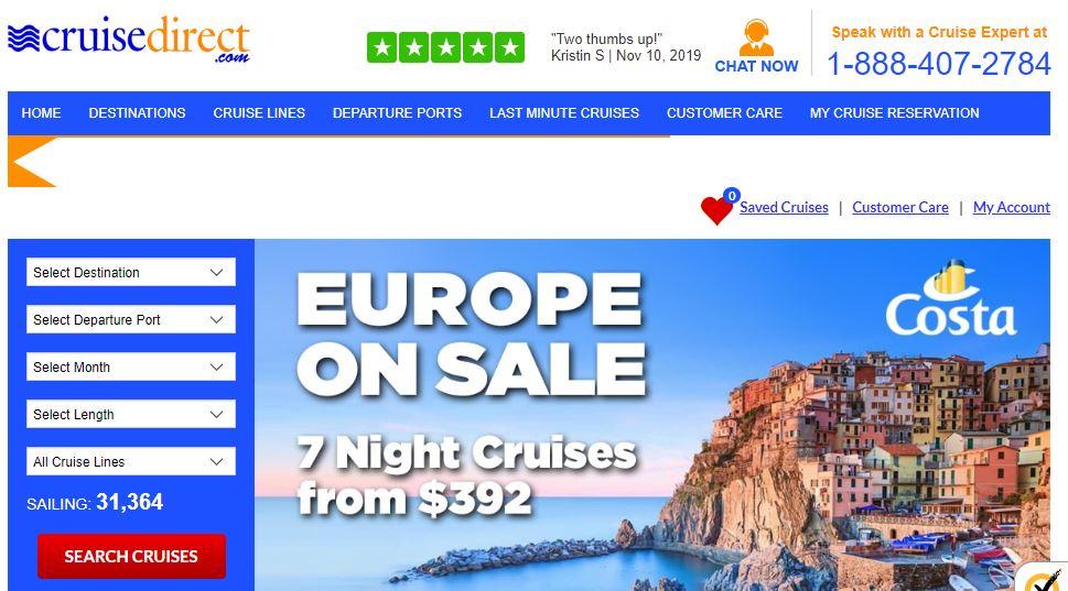 Cruise Direct Homepage