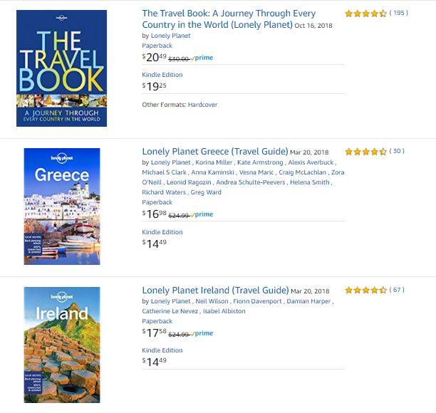 Lonely Planet Books on Amazon