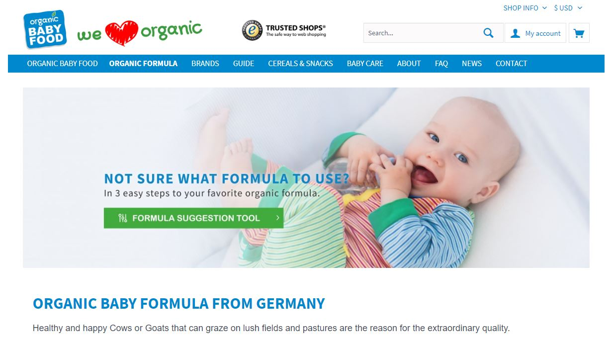 Organic Baby Food Online Store